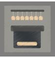 flat shading style icon pub bar vector image vector image