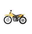 flat style enduro motorcycle vector image