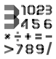 Font from a paper transparent tape - Numerals vector image vector image