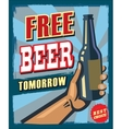 free beer tomorrow vector image vector image