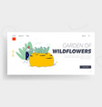 gardening hobby and outdoors activity website vector image vector image