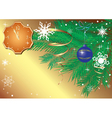 gold christmas card with clock vector image vector image