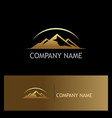 gold mountain nature logo vector image vector image