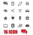 grey communication icon set vector image vector image