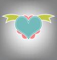 heart retro design vector image
