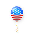 helium balloons with american flag isolate vector image vector image