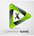 letter x logo symbol in the colorful triangle on vector image vector image
