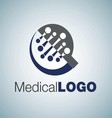 medical logo 13 vector image vector image