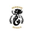 mermaid with flying hair vector image