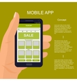 mobile app interface design vector image vector image