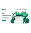 modern flat design time management can be used vector image