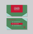 modern simple light business card template with vector image vector image
