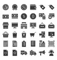 online shopping icon set solid style vector image vector image