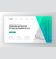 pharmaceutical landing page template vector image vector image