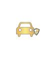 Protect car computer symbol vector image vector image