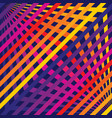 rainbow lines 3d music pop digital striped pattern vector image