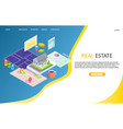 real estate business landing page website vector image