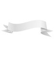 Realistic shiny grey ribbon isolated on white vector image