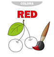 red learn the color education of vector image vector image