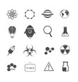 science chemical and physic icons set vector image