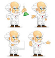 Scientist or Professor Customizable Mascot 10 vector image vector image