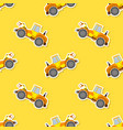 seamless pattern with farm tractor vector image