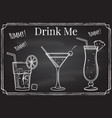 set cocktail icon drink me elements on the vector image