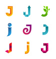 Set of letter J logo icons design template vector image vector image