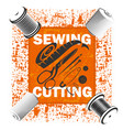 sewing a banner with a tool vector image vector image