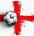 soccer ball on england flag abstract backgrounds vector image vector image
