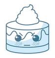 sweet cake kawaii character vector image