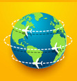 time to travel explore the world with aircraft vector image vector image
