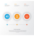 travel icons set collection of timetable vector image vector image