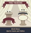 Tribunes with a scene vector image