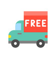 truck and free alphabet on board flat icon vector image vector image