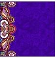 vintage floral violet background for your design vector image vector image