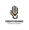 Creative hand Design vector image