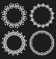 set of round frames on a black background vector image