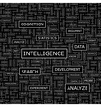 INTELLIGENCE vector image