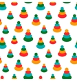 Seamless pattern with colorful baby toys for vector image