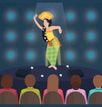 bali indonesia dance performance traditional vector image