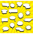 comic white speech bubbles collection vector image