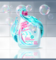 laundry liquid detergent advertising poster vector image