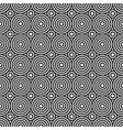 round monochrome shape geometric seamless pattern vector image