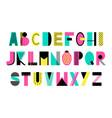 creative alphabet vector image