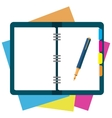 notepad paper sheet whith place for text vector image
