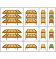 Shelves for shops vector image