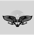 a male angel flaps large wings vector image vector image