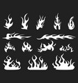 abstract white fire patterns vector image