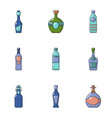 alcohol abuse icons set cartoon style vector image vector image